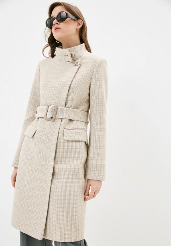 женское пальто elegant life, бежевое