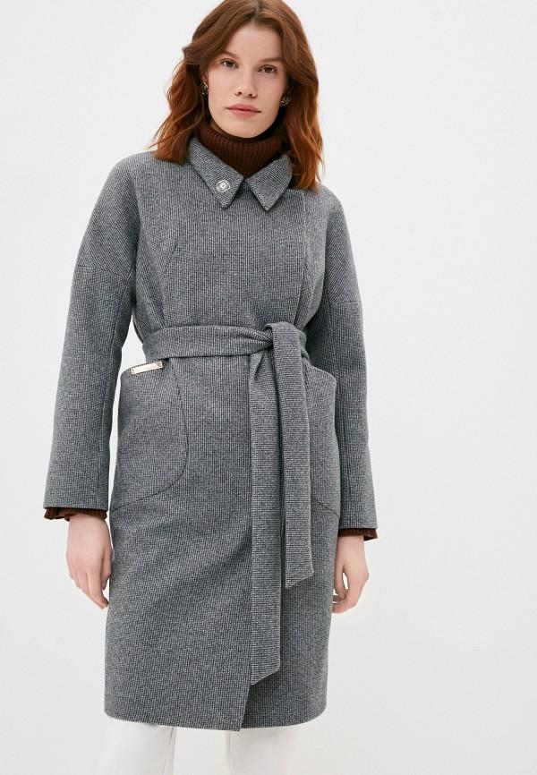 женское двубортные пальто elegant life, серое