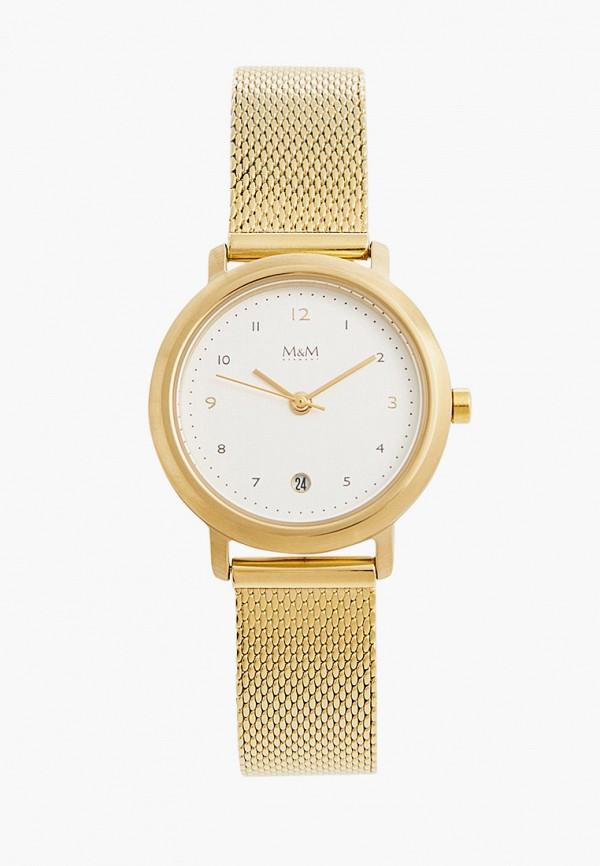 женские часы m&m germany, золотые
