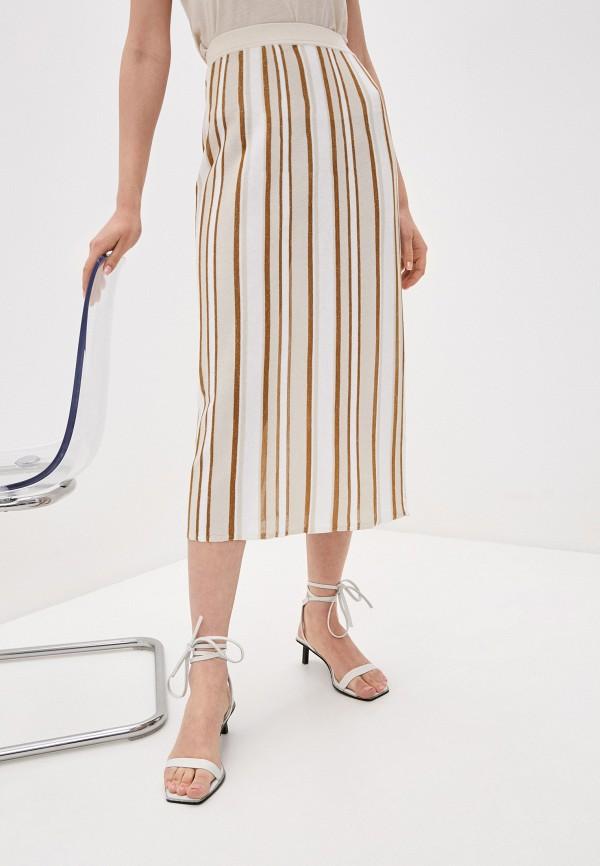 женская плиссированные юбка falconeri, разноцветная