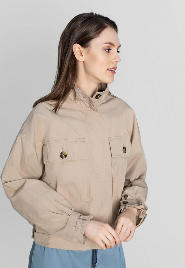 женская куртка o'stin, бежевая