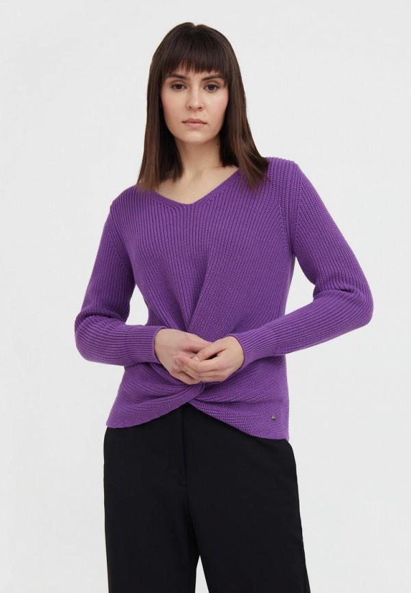Пуловер Finn Flare фиолетового цвета