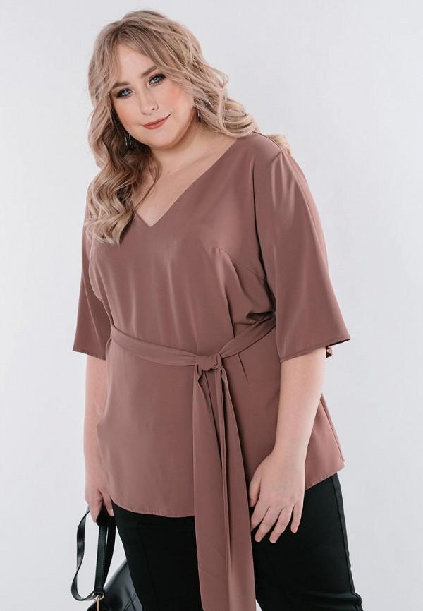 женская блузка с длинным рукавом jp, коричневая
