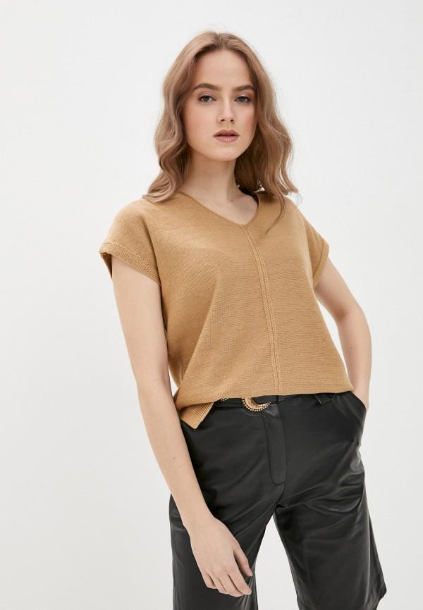женский пуловер vilatte, бежевый