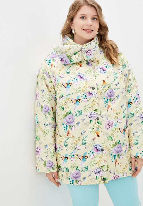 женская утепленные куртка grand grom, желтая