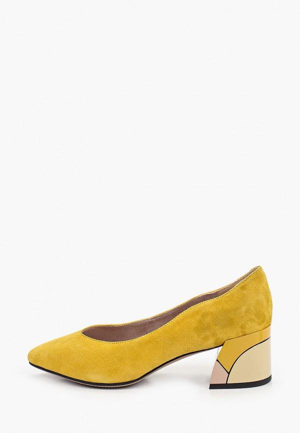 женские туфли с закрытым носом makfine, желтые