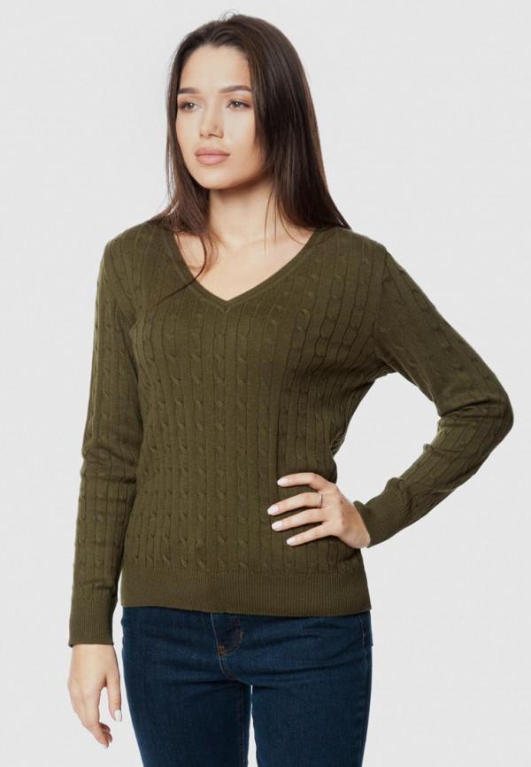 женский пуловер arber, хаки