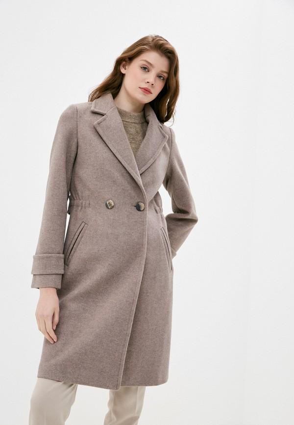 женское двубортные пальто снежная королева, бежевое