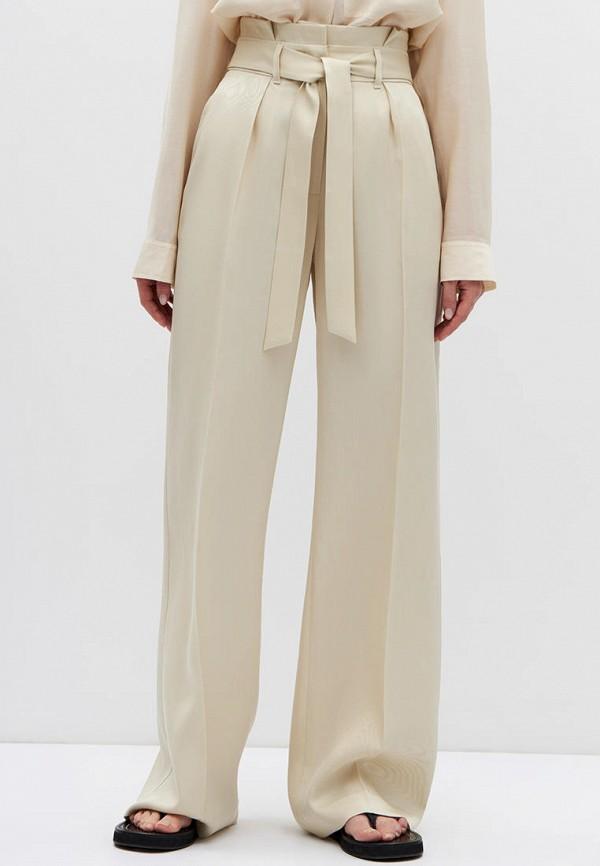 женские повседневные брюки lime, бежевые