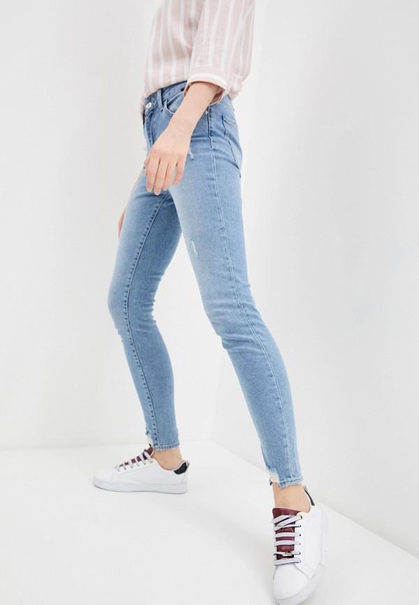 женские джинсы скинни mavi, голубые