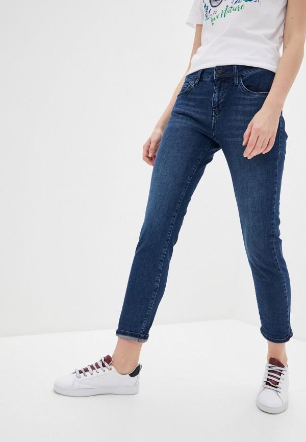 женские джинсы бойфренд mavi, синие
