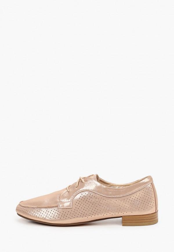 женские туфли с закрытым носом ridlstep, золотые