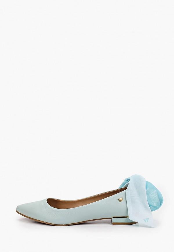 женские туфли с закрытым носом bottero, голубые