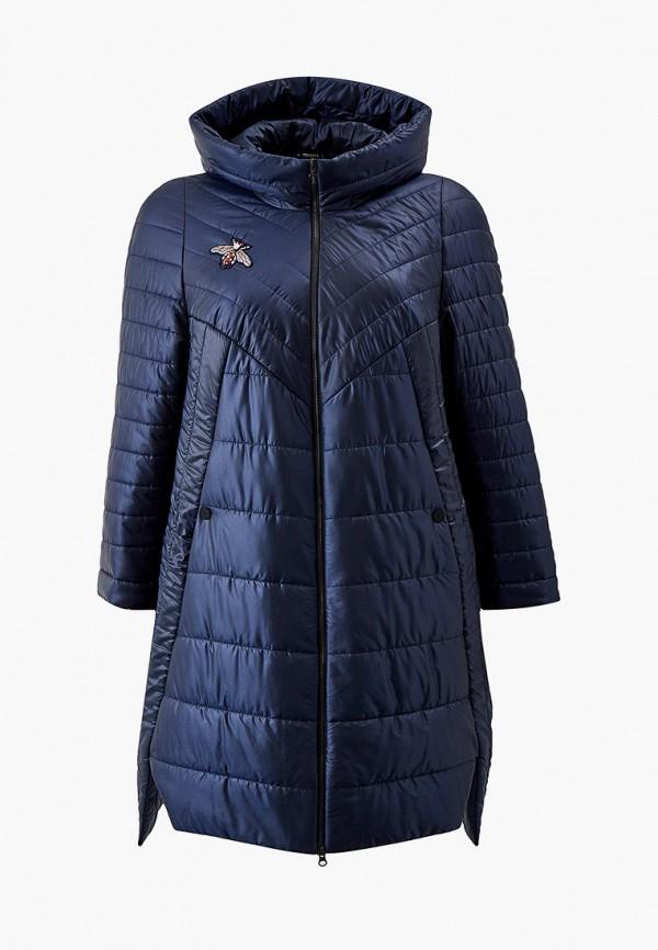 женская утепленные куртка trevery, синяя
