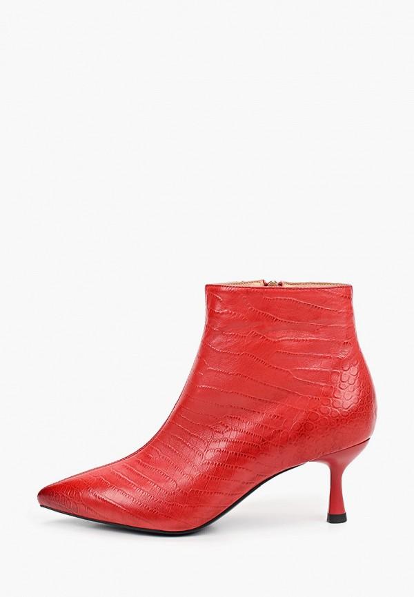 женские высокие ботильоны sprincway, красные