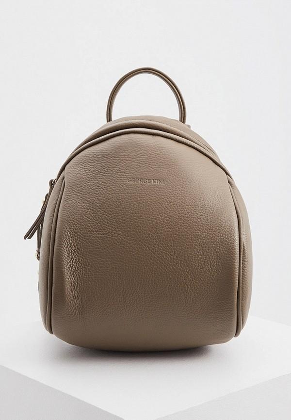 женский рюкзак george kini, коричневый