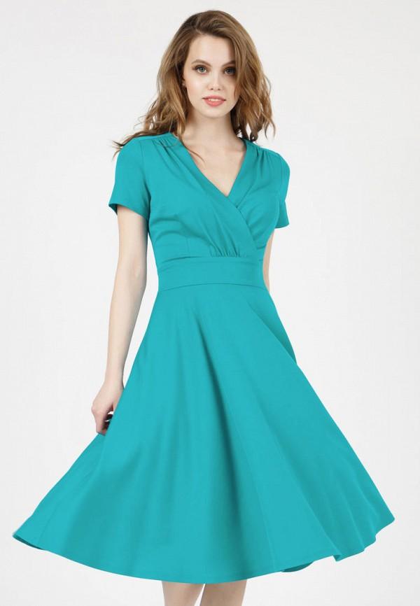 женское платье с запахом grey cat, бирюзовое