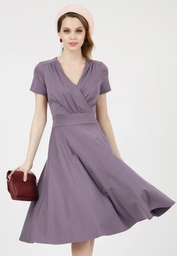 женское платье с запахом grey cat, фиолетовое