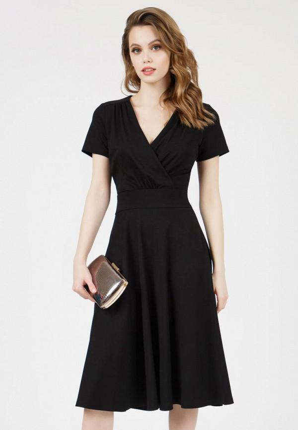 женское платье с запахом grey cat, черное