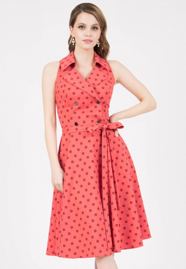женское повседневные платье grey cat, розовое
