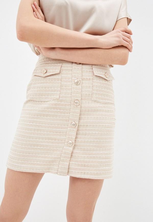 женская прямые юбка lusio, розовая