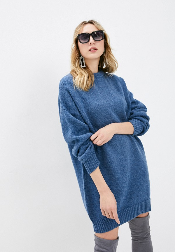 женское платье-свитеры marinari, синее