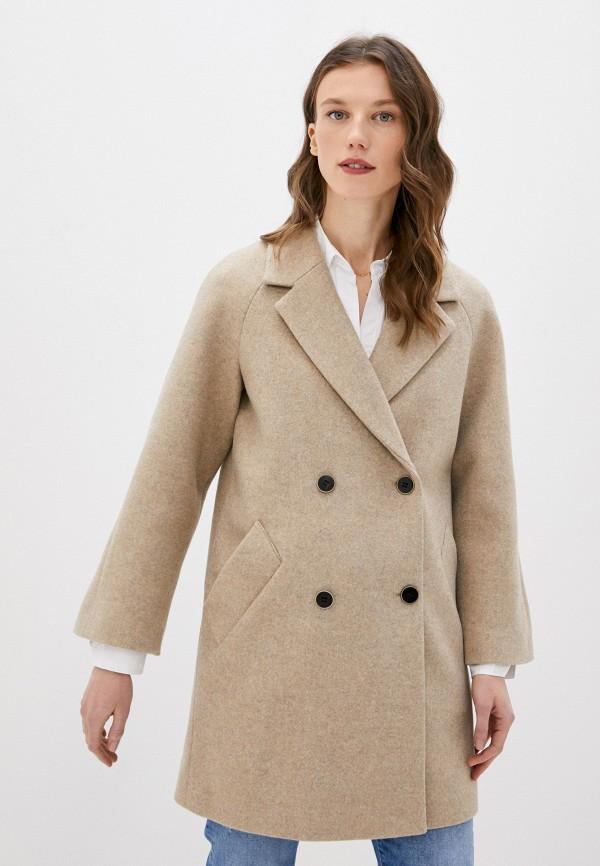 женское пальто снежная королева, бежевое
