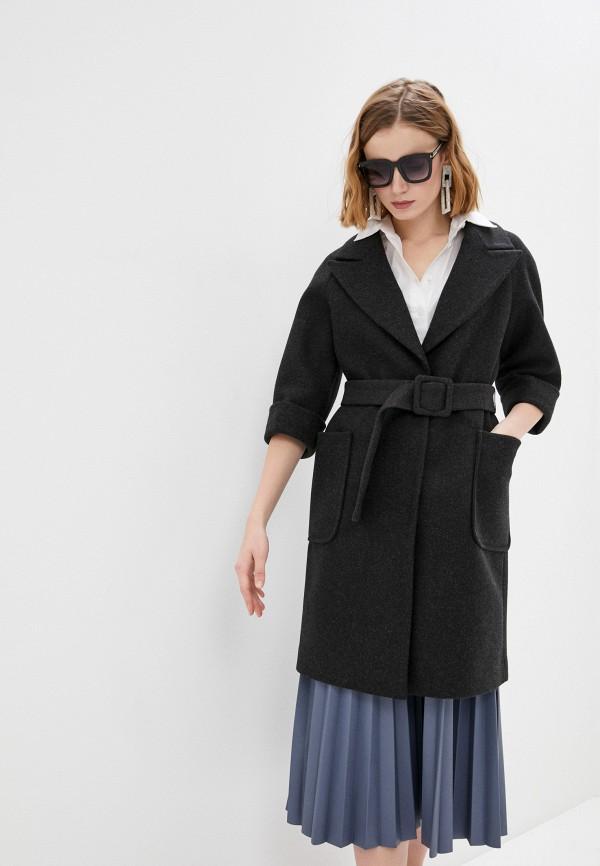 женское пальто снежная королева, черное