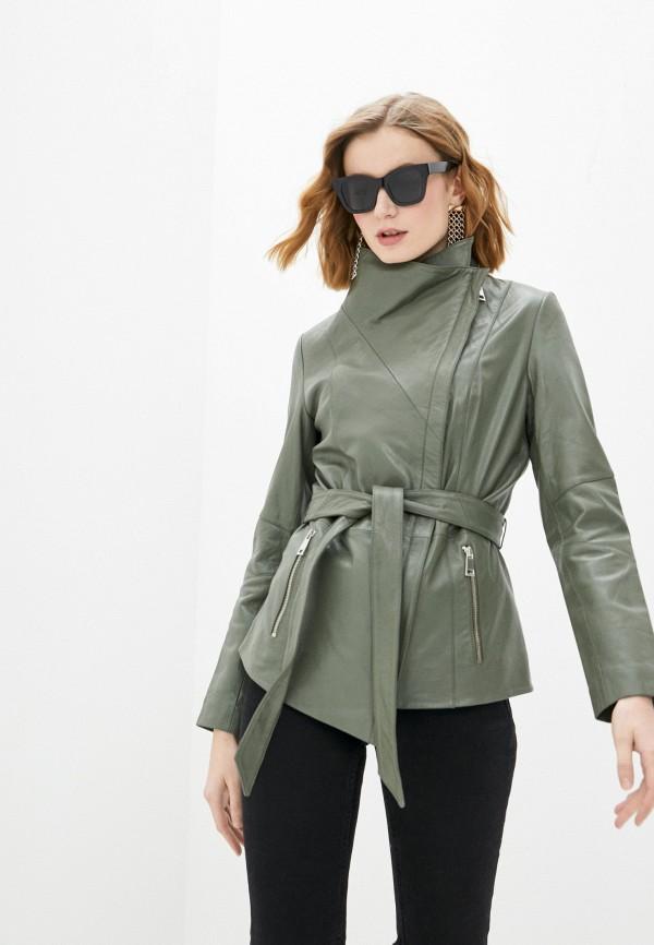 женская куртка косухи снежная королева, хаки