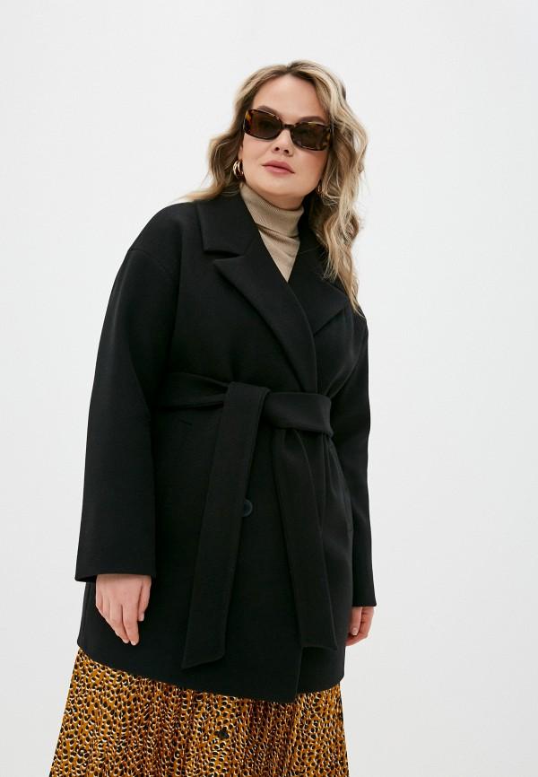 женское двубортные пальто d.jagazi, черное