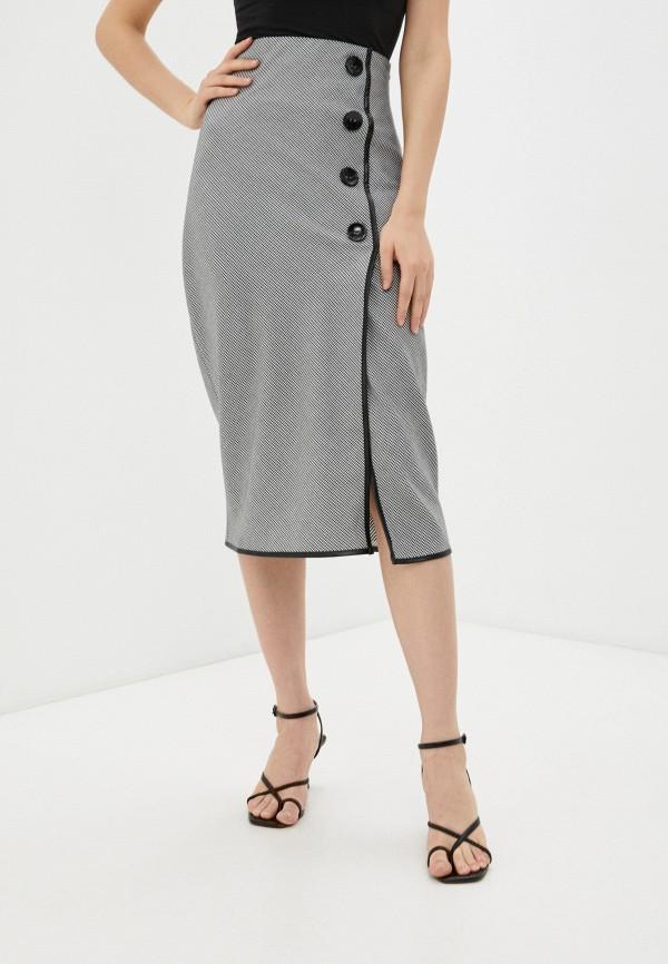 женская прямые юбка avemod, черная