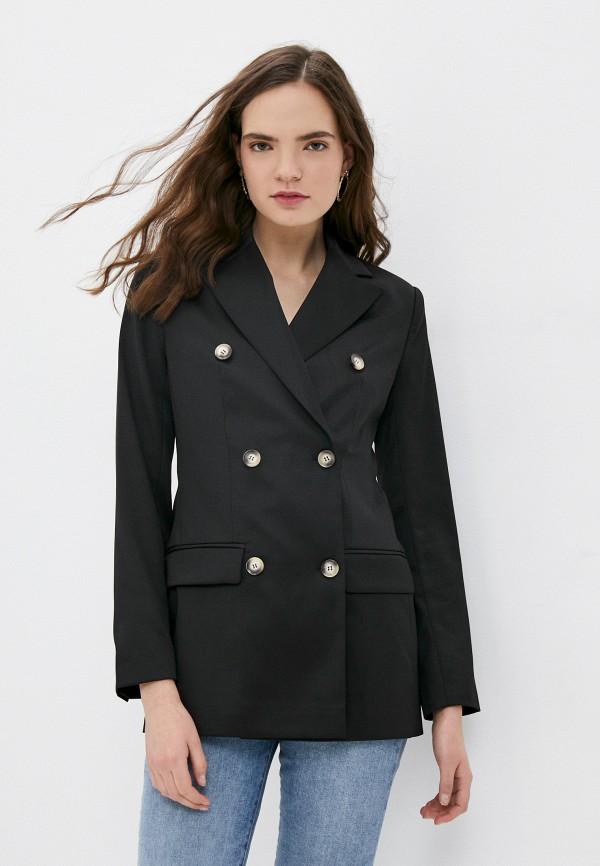 женский пиджак self made, черный