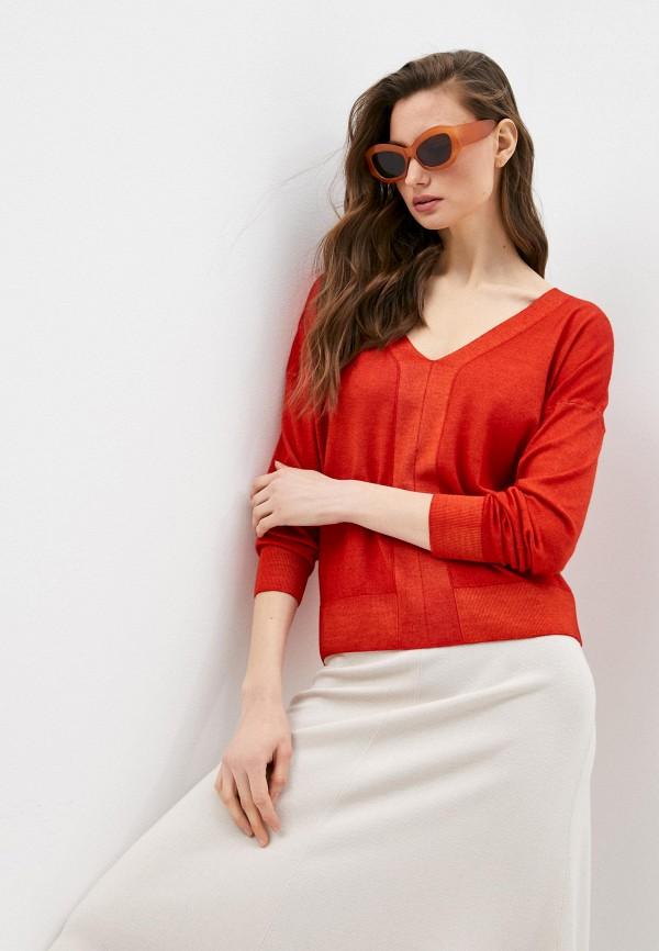 женский пуловер falconeri, красный