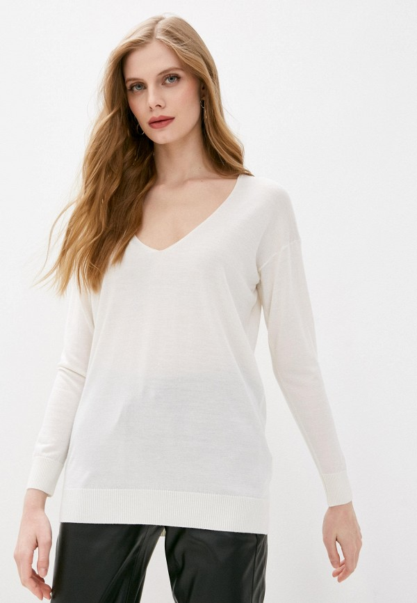 женский пуловер falconeri, белый