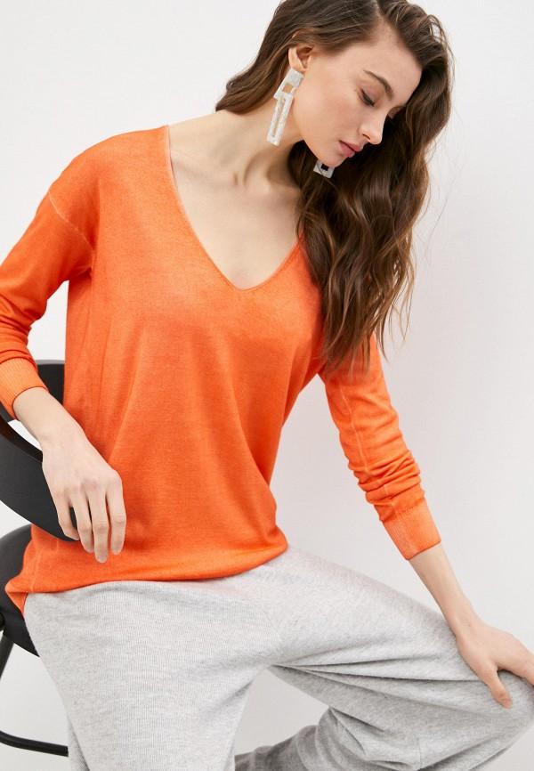 женский пуловер falconeri, оранжевый