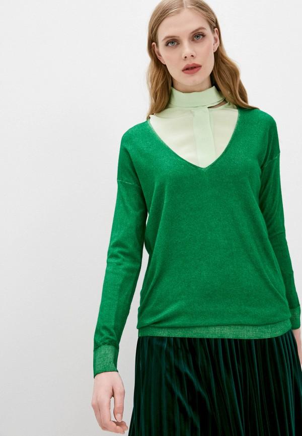 женский пуловер falconeri, зеленый