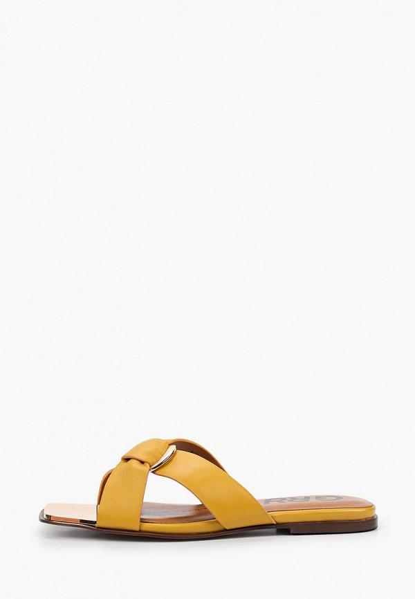 женское сабо graciana, оранжевое