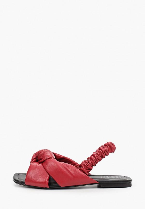 женские сандалии graciana, бордовые