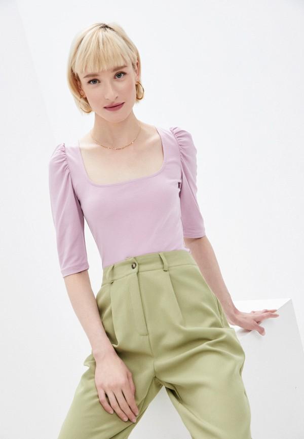 женская футболка ruxara, розовая