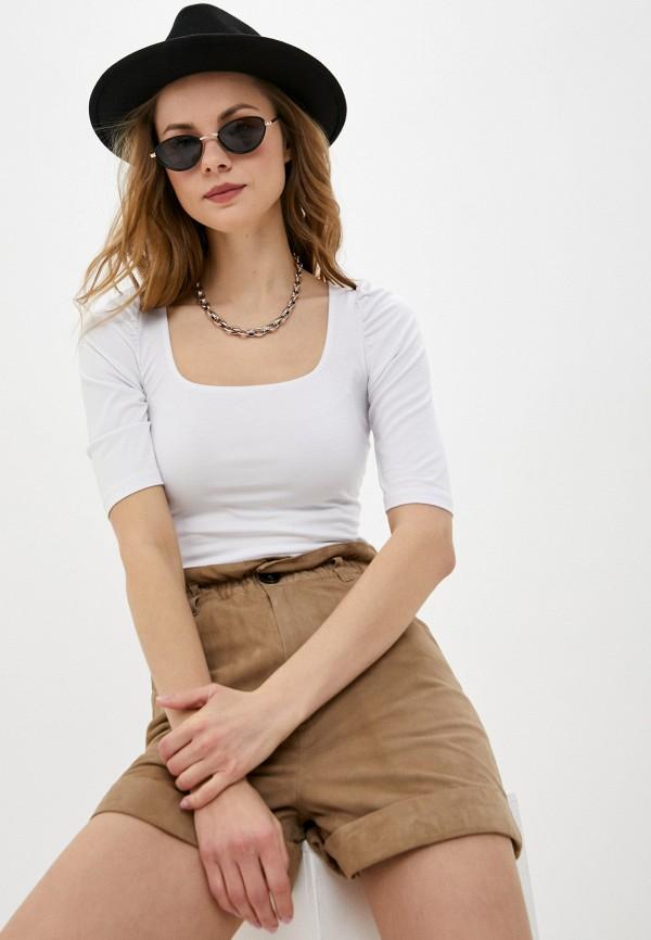женская блузка с коротким рукавом ruxara, белая