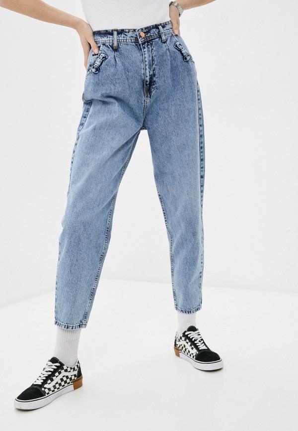 женские джинсы-мом cracpot, голубые