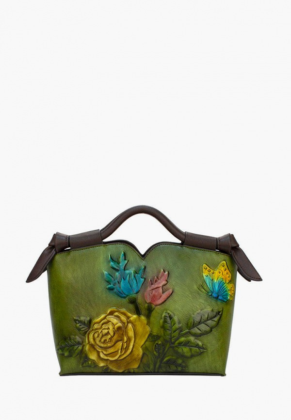 женская сумка с ручками laccoma, зеленая
