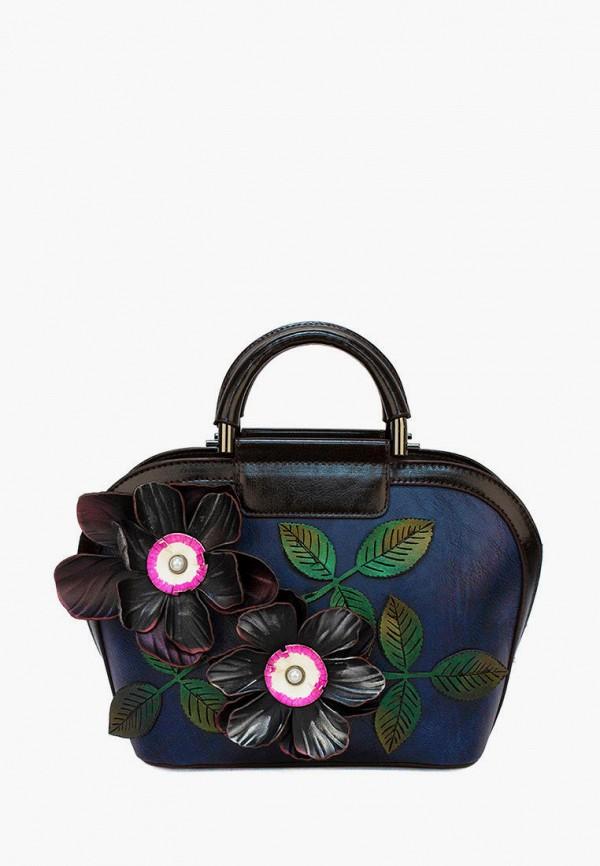 женская сумка с ручками laccoma, синяя