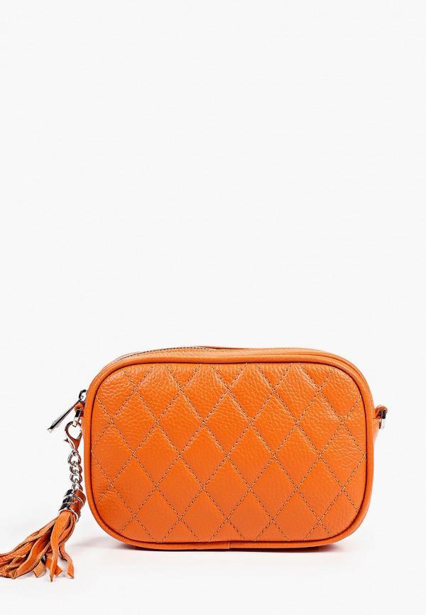 женская сумка через плечо fiato, оранжевая