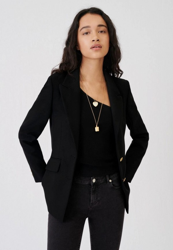 женский пиджак maje, черный