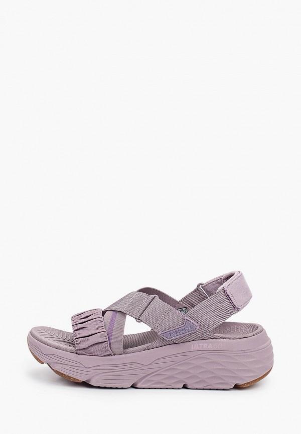 женские сандалии skechers, фиолетовые