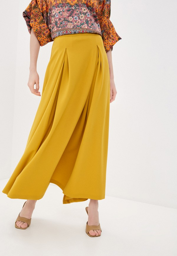 женская юбка-трапеции мадам т, желтая