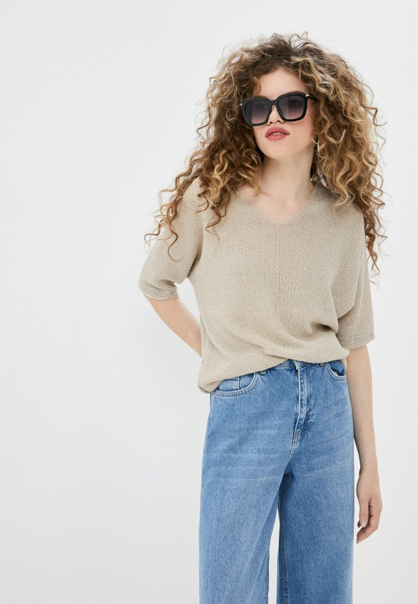 женский пуловер defacto, бежевый