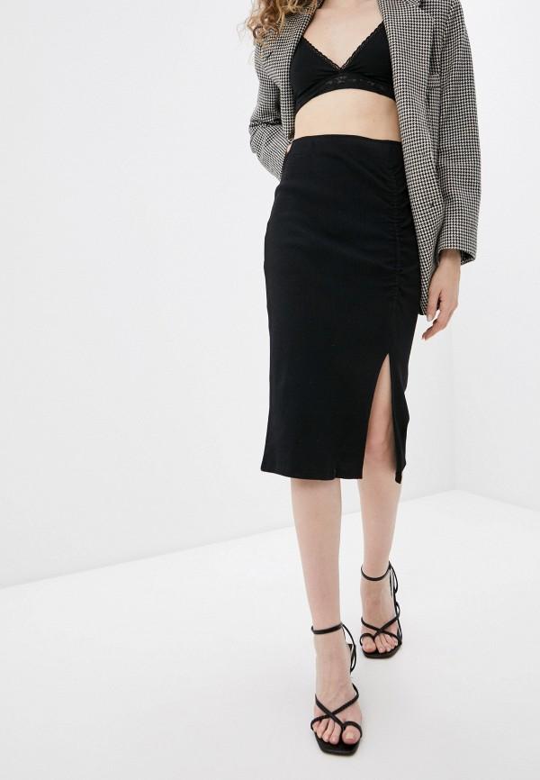 женская узкие юбка defacto, черная