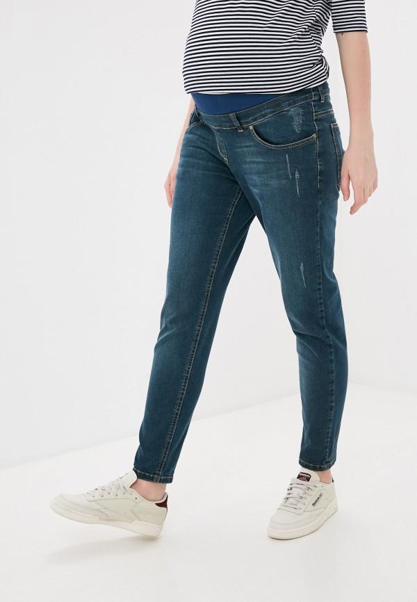 женские джинсы бойфренд mama's fantasy, синие